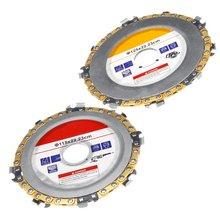 Ahşap araçlar 125mm/115mm açılı taşlama zinciri plaka tekerlek ahşap oyma açısı değirmeni zincir disk için açı değirmeni