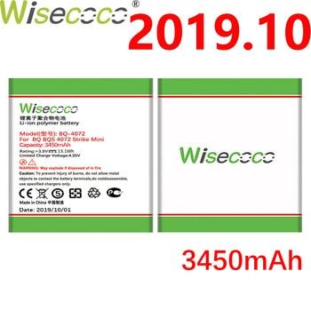 WISECOCO 3450mAh Battery For BQ BQS 4072 BQ-4072 strike mini Smart Phone Latest Production High quality battery+Tracking Number open view window case for bq bqs 4072 strike mini 5020 strike 5022 bond 5035 velvet leather flip cover magnetic stand case