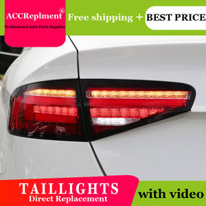 Image 4 - Car Styling LED Tail lights For Audi A4 2013 2016 Taillight LED Running light + Dynamic Turn Signal + Reverse + Brake A Set
