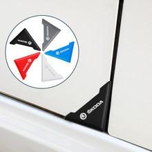 Protecteur de coin de porte de voiture en Silicone, 2 pièces, anti-rayures, Anti-collision, nouveau, pour Skoda octavia fabia rapid