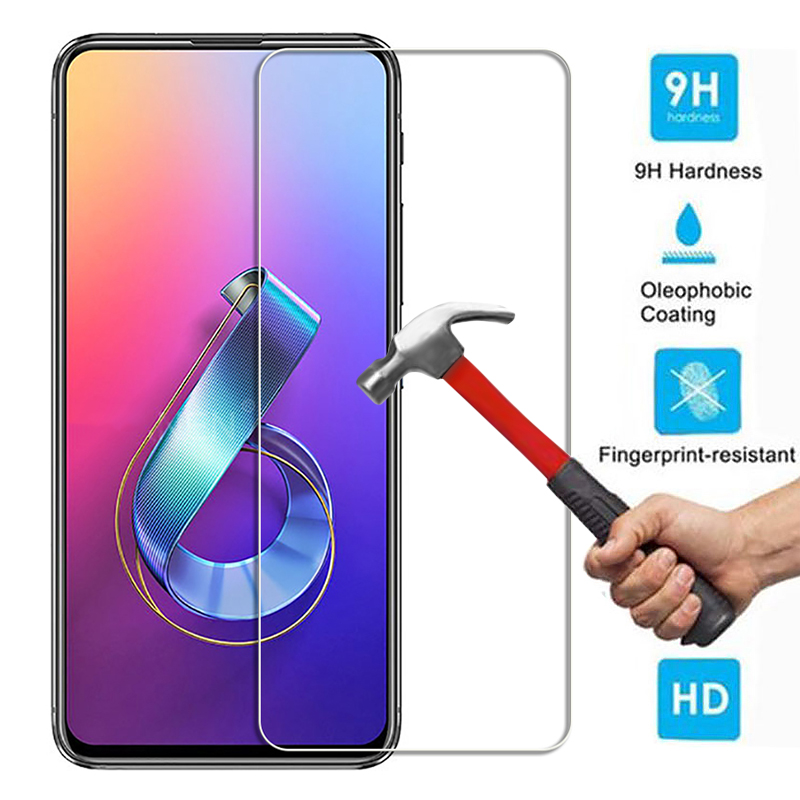 2Pcs/Lot 9H Tempered Glass For <font><b>Asus</b></font> <font><b>Zenfone</b></font> <font><b>6</b></font> <font><b>2019</b></font> <font><b>ZS630KL</b></font> <font><b>6</b></font>.4