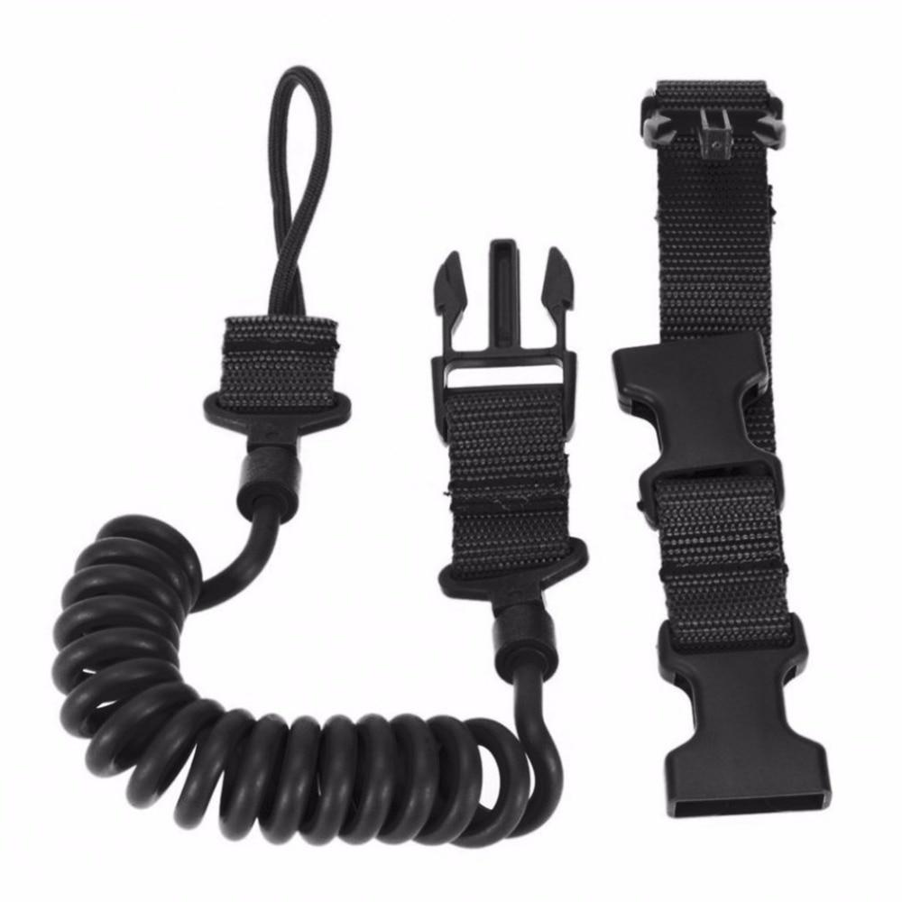 Durable&Elastic Outdoor Tactical Safety Lanyard Quick Release Belt Extension-type Sling Adjustable Belt Combat Accessories