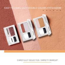QIBEST 1 шт двухцветные тени lazy eye shadow seal двухцветные градиентные жемчужные тени для век с кистью TSLM2