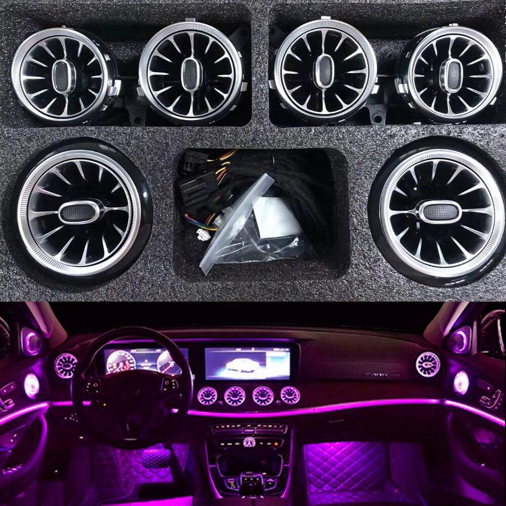 A condição de ar dianteira conduziu a luz ambiental para a tomada de ar da turbina w213 conduziu luzes para a entrada do respiradouro de ar da classe e200 e320 de mercedes benz e