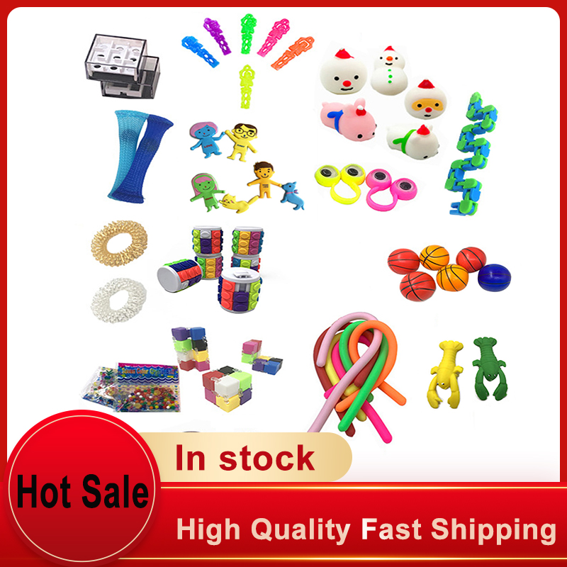 10/50Pcs Pack Sensory Fidget Toy Set Stress Relief Toys Autism Anxiety Relief Stress
