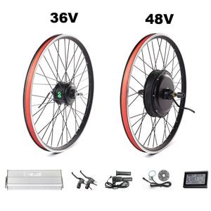 Electric bike kit 26'' rear wheel dropout 135mm fits disc/ V brake bicycle conversion 250/350/500W 36/48V 1000W/1500W Ebike kit(China)