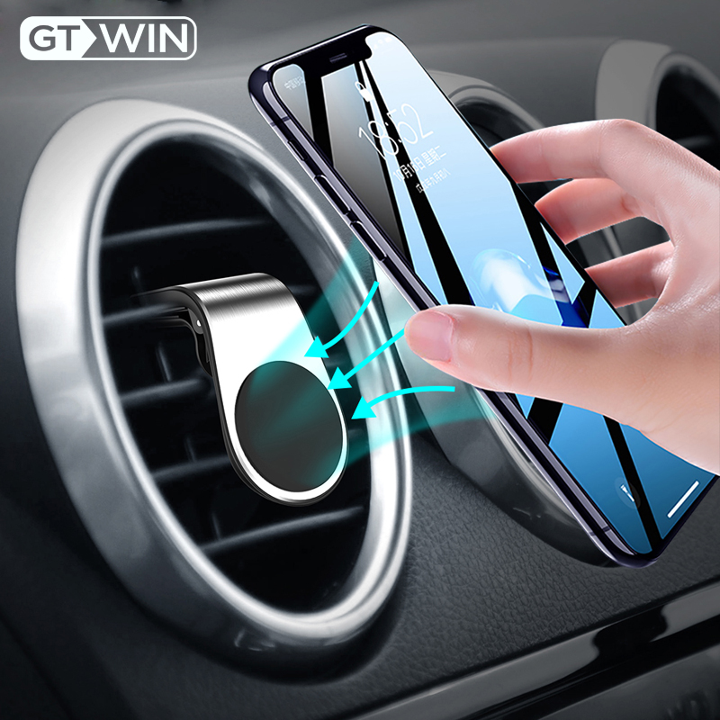 GTWIN Metal Magnetic Phone Holder Car Shape Air Vent Clip Mount Stand In Car GPS Mobile Phone Holder For IPhone X Samsung Xiaomi