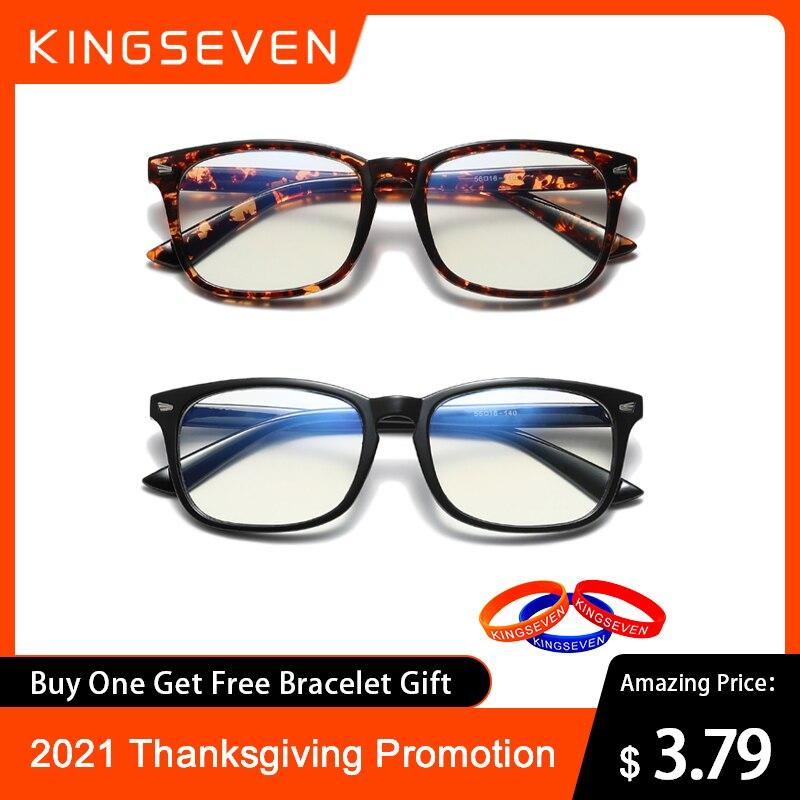 2021 KINGSEVEN синий светильник, блокирующие очки, квадратные очки, анти-синий луч, компьютерные игровые очки, оправа, День благодарения