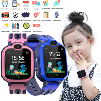 Y52 Waterproof Smart Watch for Kids GPS LBS Location Tracking SmartWatch SIM Card Two-way Call SOS Camera Anti Lost Kids Watches