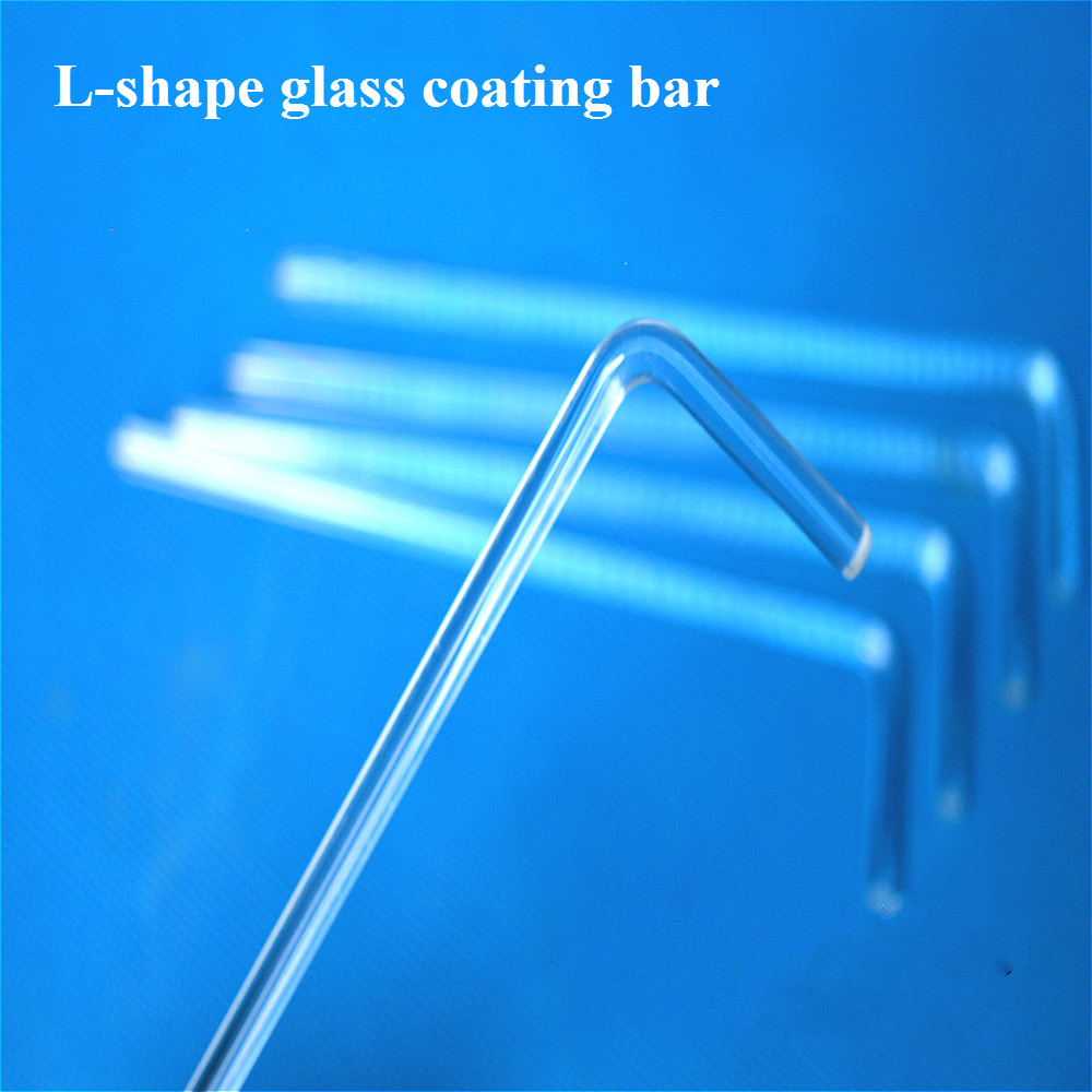 Glass Cell Spreader L-shape Cell Coating Bar Cell Culture Dish Coated Stick Width 50mm Cell Applicator Spatula Push Plates 10pcs