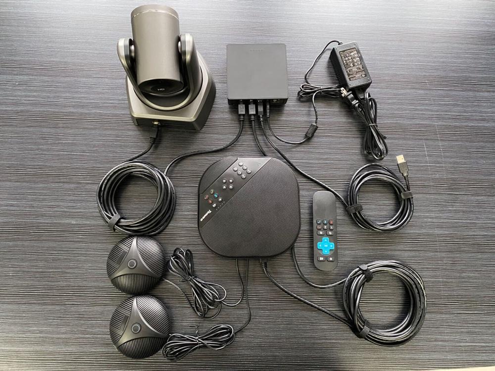 Tenveo va3000e 2mp 10x zoom solução de vídeo conferência de áudio sistema de videoconferência grupo speakerphone e hub para transmissão-3
