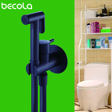 Becola черный/Античный душ набор ручной Биде Насадка для душа Туалет гигиенический душ медный клапан струйный набор душевая головка