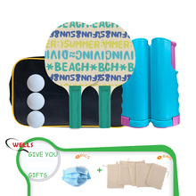 Professional Table Tennis Set with 2 paddles, 3 balls, Retractable Net & Carry Bag, Healthy Family Fun