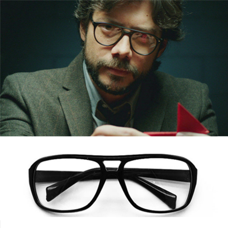 The House of Paper Money Heist Glasses Cosplay Props Eyewear Mask Salvador Dali Halloween Accessories El Profesor Sunglasses emblem