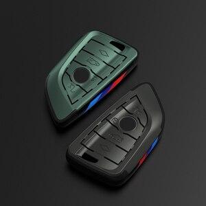 Image 5 - Placcatura Chiave Remote Controller Supporto del Sacchetto fit bmw lama KeyChain di chiave Dellautomobile di Caso Della Copertura per BMW X1 X5 X6 F15 f16 F48 BMW 1 / 2 Serie