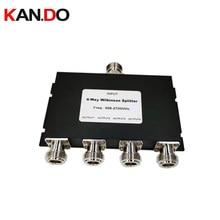 4 Way 2.4G rozdzielacz mocy 698 2700MHZ dzielnik mocy 2.5G rozdzielacz sygnału Splitter dla telecom sygnał radiowy dzielnik 4 kanały