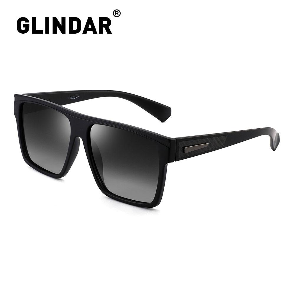 Sunglasses Women Driving Square Polarized Retro Black Design Men Brand