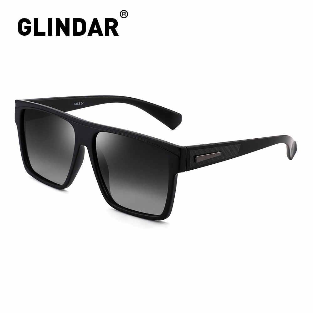 Retro Square Terpolarisasi Kacamata Wanita Pria Merek Desain Mengemudi Berjemur Kacamata untuk Wanita Pria Hitam