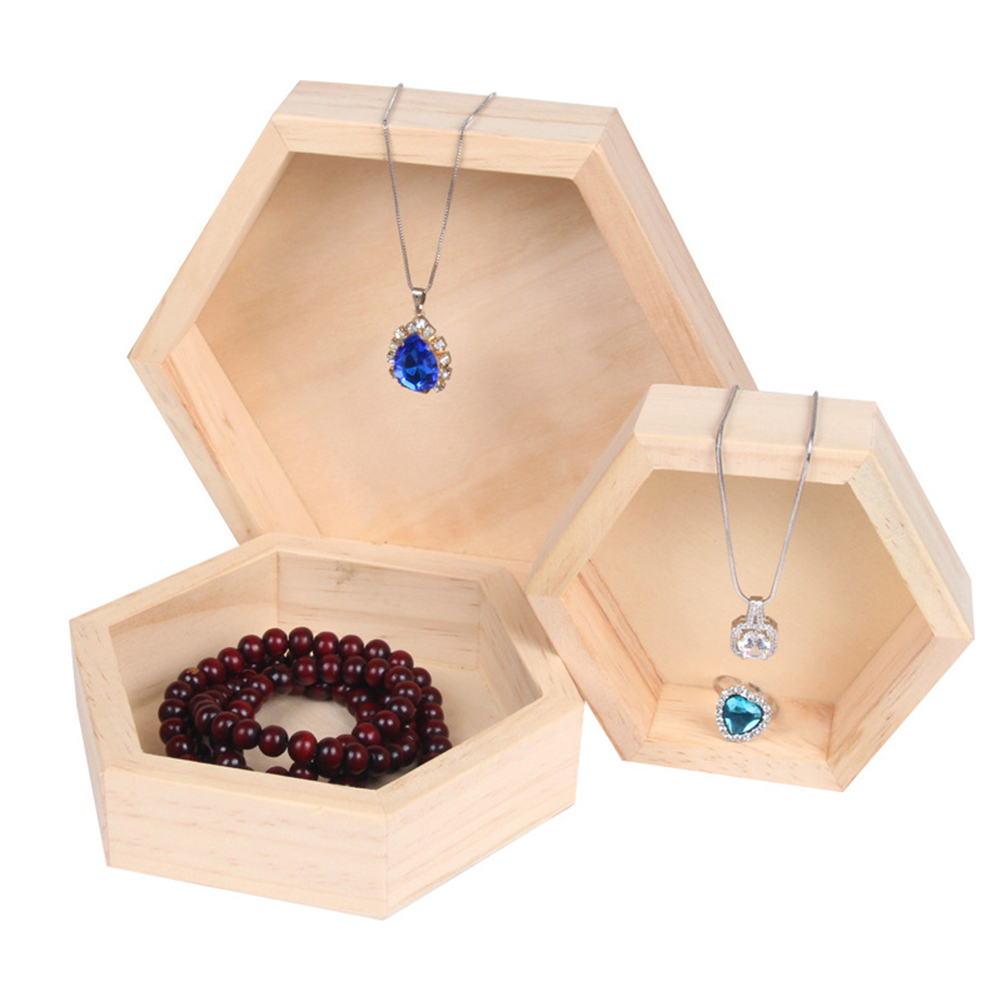Jewelry Ring Display Organizer Case Tray Holder Necklace Earrings Bangle Storage Box Showcase Jewelry Stand Holder
