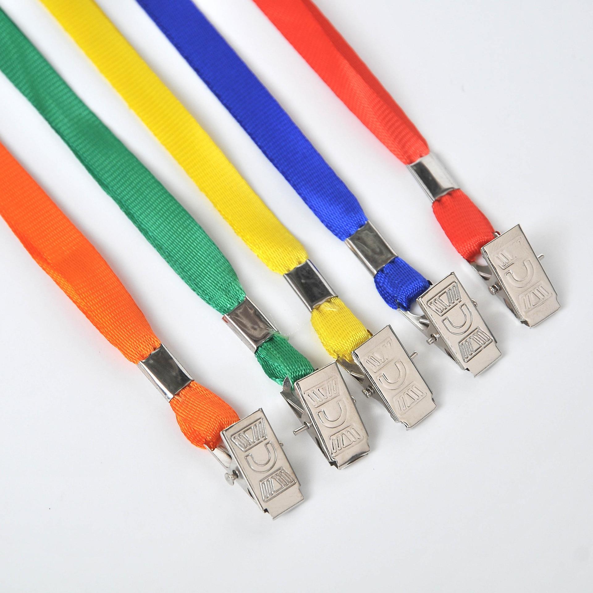 1cm Work Permit Badge Lanyard Documents Lanyard Label Polydown Lanyard Can Be Printed Logo Metal Clip Lanyard