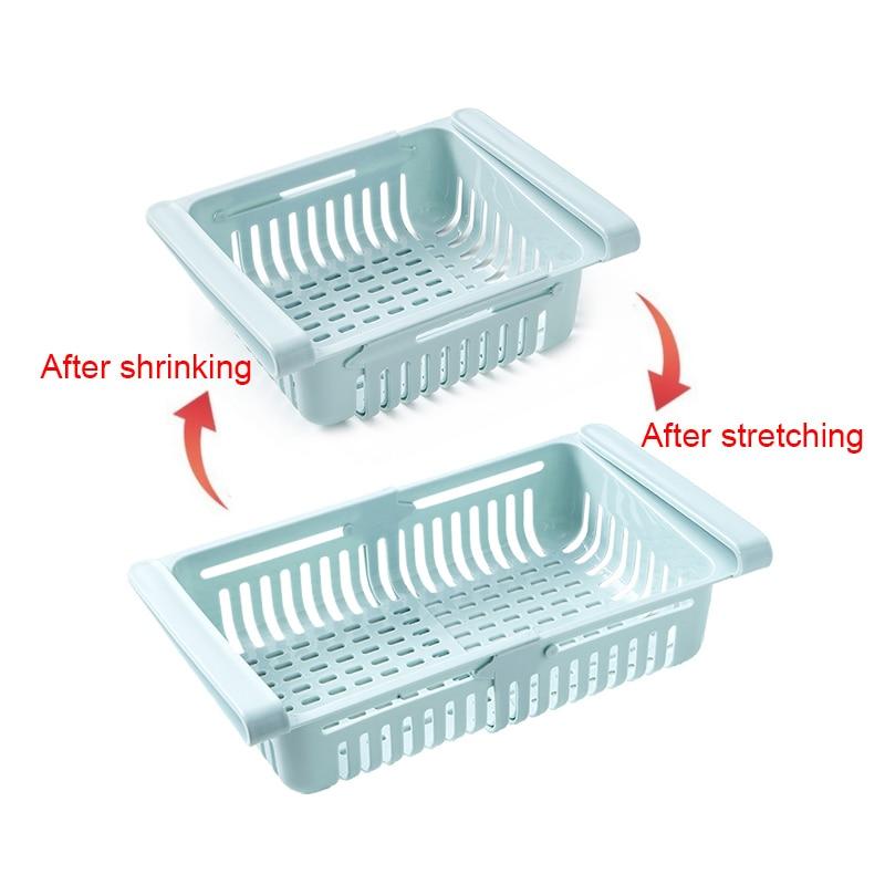 Organisateur de stockage de frigo extensible et ajustable