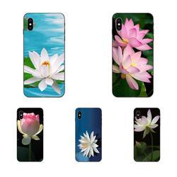 Термополиуретановый чехол Coque для Xiaomi Redmi Note 3 3S 4 4A 4X5 5A 6 6A 7 7A K20 Plus Pro S2 Y2 Y3 розовый белый цветок лотоса