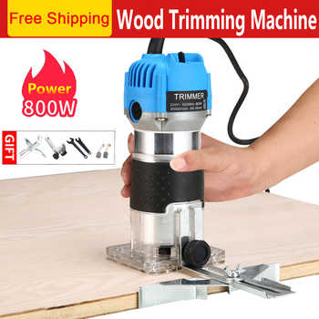 800W Woodworking Electric Trimmer Wood Milling Engraving Slotting Trimming Machine Carving Machine Router Wood - DISCOUNT ITEM  40 OFF Tools