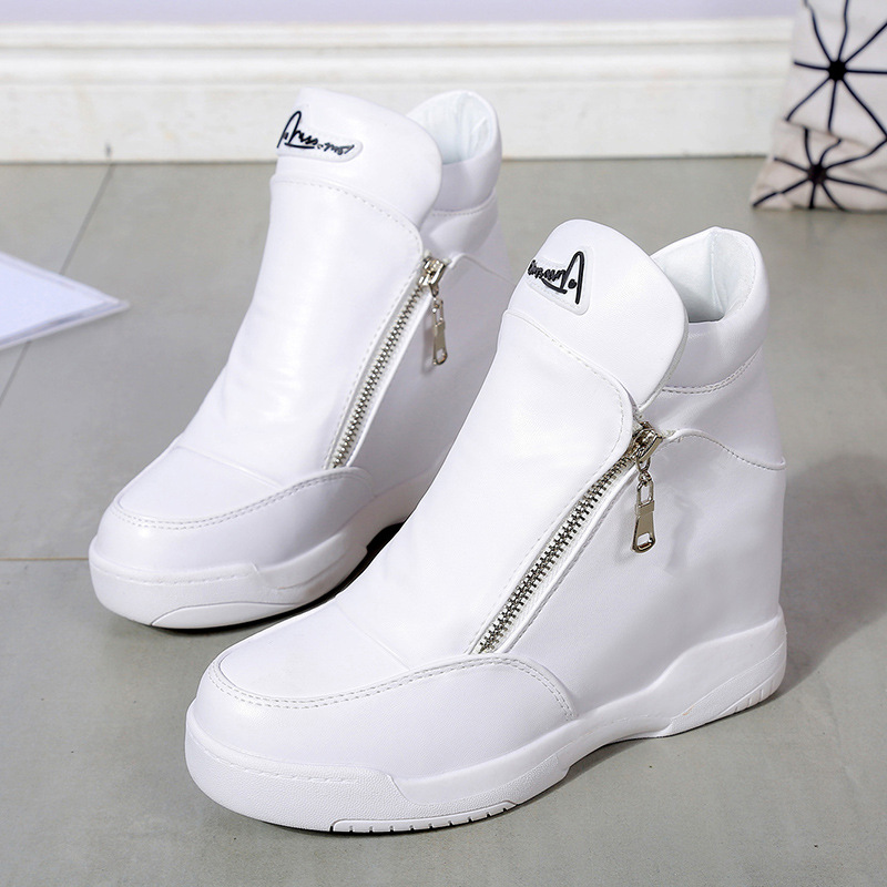 Boots Wedges Shoes Woman Crystal Platform Shoes Women Zapatillas Mujer Casual Plataforma High Heels Women Sneakers Furry Boots