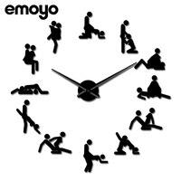 Modern Simple Wall Clock for Kitchen Wall Flip Clock Living Room Watch Creative Reloj Paris Horloge 3d New Arrive Fashion GG50gz