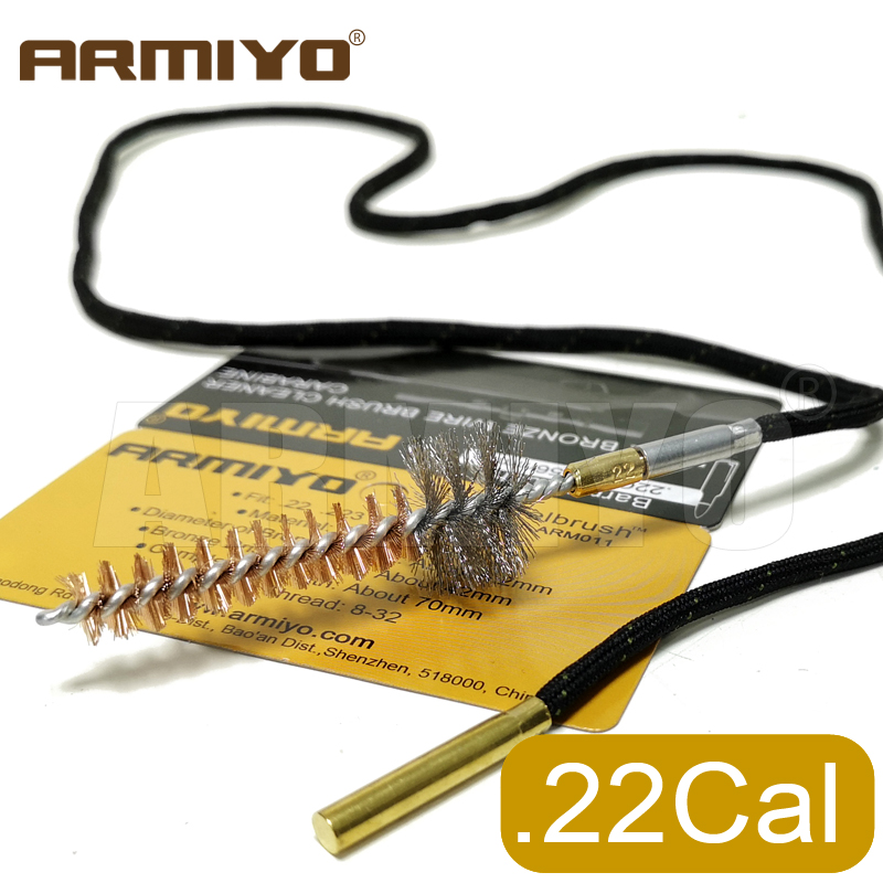 Armiyo .223Cal 5.56mm Cleaning Chamber Brushes Bronze Stainless Bristle Gun Brush For Ar M4 Hunting Accessories Thread 8-32