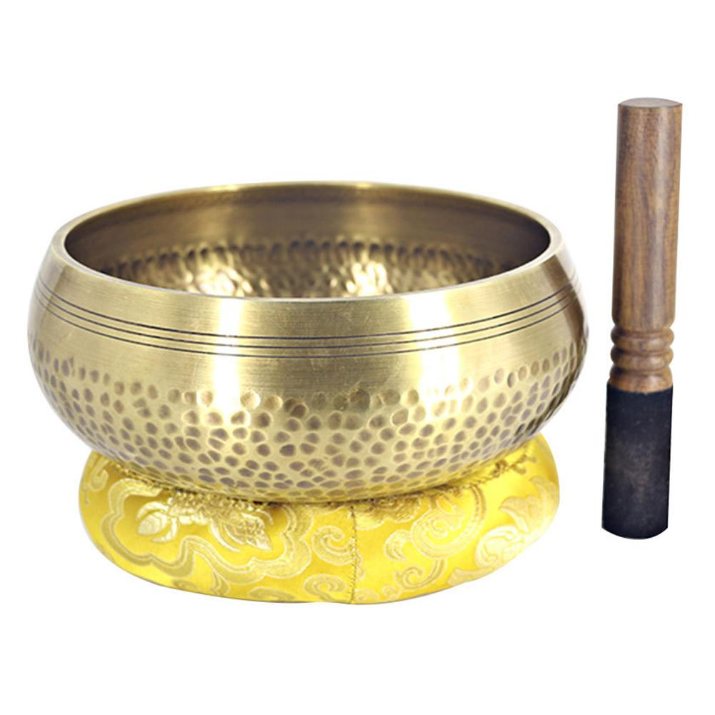 Hot Nepal Buddha Tibetan Singing Bowl Tibetan Bowls Yoga Meditation Sound Singing Bowl Mallet Decorative-wall-dishes Home Decor