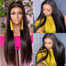 ALICE Straight 150% Density 13×6 T part Lace Front Human Hair Wigs Scalp Top Closure Wigs With Baby Hair Non-Remy