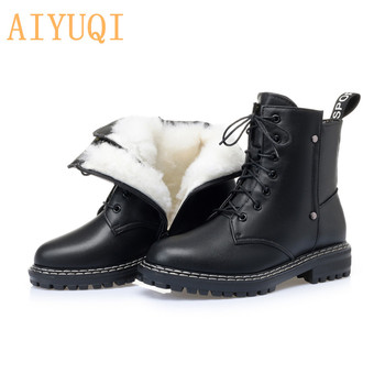 AIYUQI Women's Winter shoe Boots 2020 New Genuine Leather Ladies Short Wool Warm Non-slip Student Ankle - discount item  35% OFF Women's Shoes