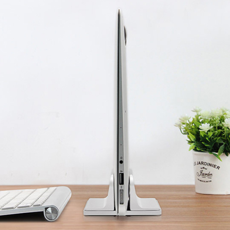 Aluminum Vertical Laptop Support Adjustable Desktop Notebook Support Upright Space-saving Stand WWO66