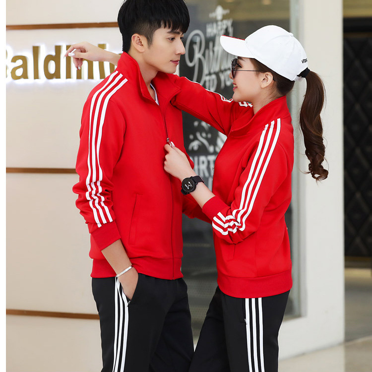 Couples Sports Set Men's Spring And Autumn Running Fitness Women's Casual Slim Fit Hoodie Two-Piece Set Put Sports Clothing Scho