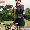 Cafete novo terno de ciclismo triathlon profissional das mulheres corrida equipe jérsei macacão manga longa apertado ciclismo terno 17