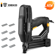 DEKO NEW DKET02 Electric Tacker Stapler Power Tools Furniture Staple Gun for Frame Frame