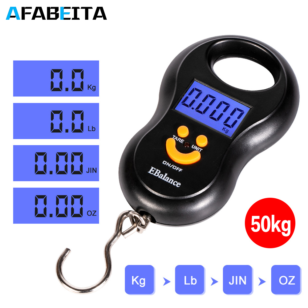 "Cool 3/""x5/"" Digital Hanging Luggage//Fish Scale Grams//Ounces//Pounds//Kilograms"