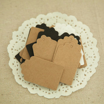 Nowy 100 sztuk Kraft Paper Hand Made Tag z miłością dla DIY pudełko Tag cukierki Cupcake kartki z podziękowaniami Handmade dobrodziejstw nazwa marka Tag tanie i dobre opinie CN (pochodzenie) Torby Odzieży DHT307 Ekologiczne Papier