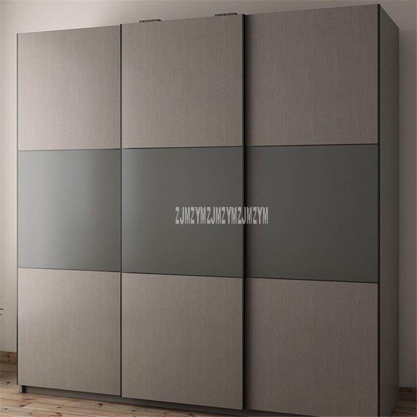 BK-W01 2m x 2m Style moderne armoire 3 porte latérale Design Louis mode Simple bois rangement combinaison armoire Simple Installation - 2