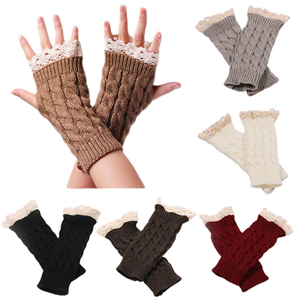 Gloves Women Knitting Warm Winter Gloves  Knit Mittens Female Fingerless Gloves Winter Women Accessories Fingerless Warm Gloves