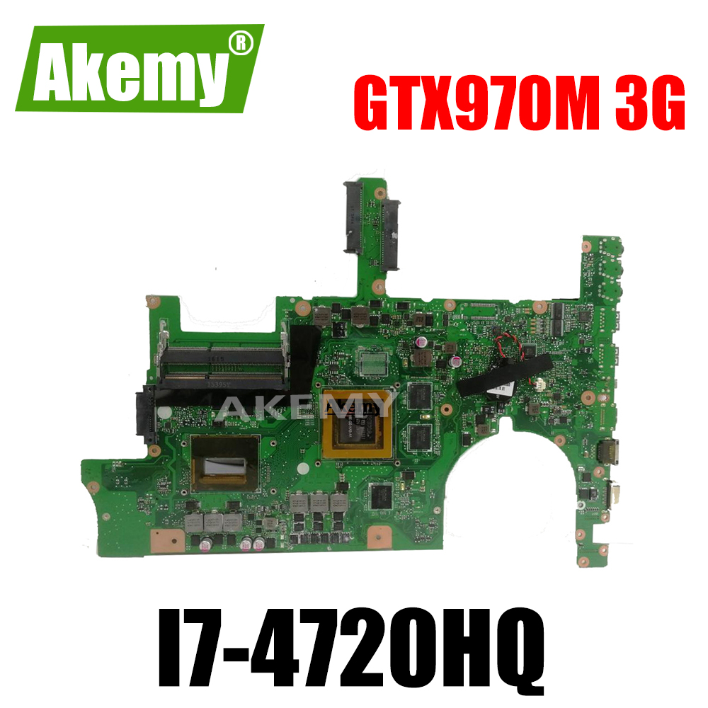 G751JT MB_0M/I7-4720HQ/AS GTX970M 3GB 90NB06M1-R00040 Mainboard For <font><b>Asus</b></font> <font><b>ROG</b></font> G751JT <font><b>G751JY</b></font> G751JL G751J G751 laptop motherboard image