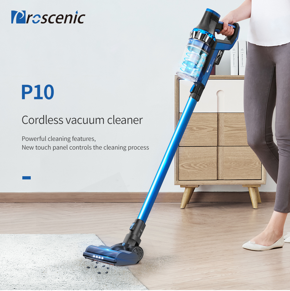 Details about 20500PA Cordless Handheld Vacuum Cleaner Cyclone Deep Cleaning Proscenic P10