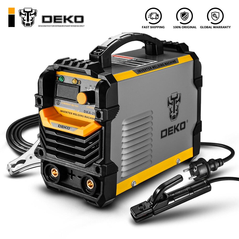 Преобразователь постоянного тока DEKO DKA, дуговой сварочный аппарат 220 В IGBT MMA, сварочный аппарат 120/160/200/250 А, сварочный аппарат, легкий, эффекти...