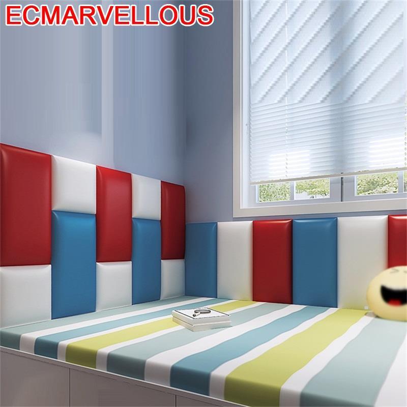 Testiera Letto Polipiel Coussin Cabezero Child 3D Wall Sticker Bed Pared Tete Lit De Cabeceira Cabecero Cama Headboard
