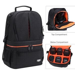 Image 2 - Водонепроницаемый рюкзак для DSLR камеры, рюкзак с отражающей полосой, чехол для переноски штатива для мужчин и женщин, уличные дорожные сумки для фотографии