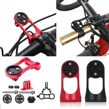 Mountain Bicycle Computer Mount Holder with Out Front Bike Stem Extension Support Holder for Garmin Bryton Cateye GoPro Light
