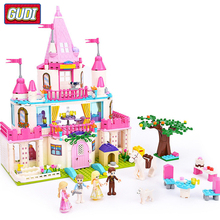 Girl Friends Alice Princess Sweet Castle Royal Stud-farm Carriage Outing Training Model Building Blocks Legoingly Toys