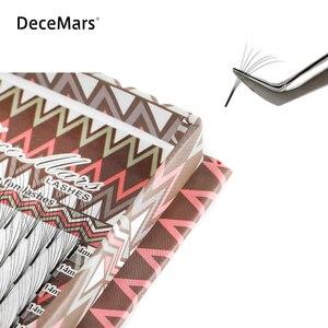 Image 3 - Decemars 10 ケース/ロットロング幹事前メイドボリュームファンまつげ 3D 10Dまつげロシアボリュームまつげ延長プリメイドラッシュ