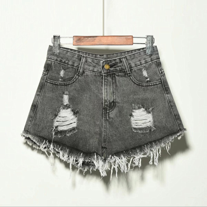 2020 Sexy Summer Denim Shorts Women High Waist Jean Shorts Female Loose Hole Jeans Shorts With Pockets Casual Plus Size S-6XL